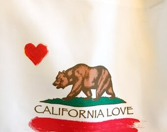 Custom Made X-Large California Tote Bag Personalized with your name