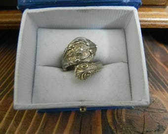 sterling silver spoon ring size 6.5