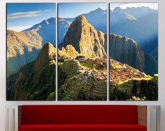 Machu Picchu print Machu Picchu canvas Machu Picchu wall art Machu Picchu wall decor Mountain wall decor Mountain canvas Mountain wall art