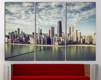 Chicago Wall Art chicago wall decor | etsy