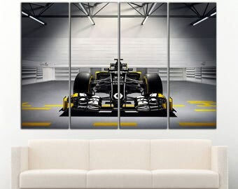 Formula 1 Renault canvas Formula 1 print Renault wall art Renault wall decor Sportcar Wall Art Sportcar Canvas Sportcar Print Sportcar Decor