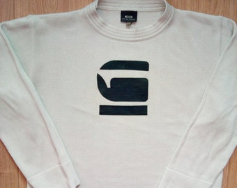 G-Star Vintage Mens Crewneck Sweater Jumper Long Sleeve Sweatshirt