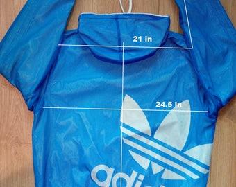 Adidas Originals Reversible Mens Windbreaker Nylon Tracksuit Top Hooded Jacket