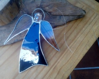 Purple Stained Glass Angel