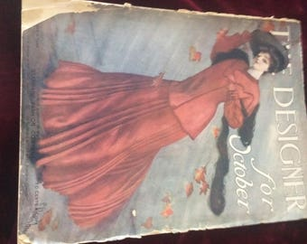 Antique Magazine 116 Years Old The Designer for October 1904 - Free Shipping