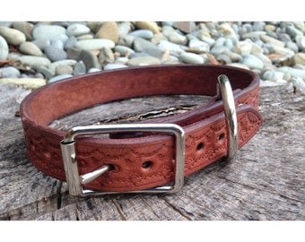 Dog Collar - Handmade Leather & Silver #2