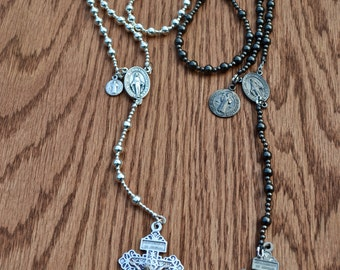 Wire Combat Rosary