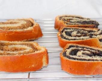 Traditional Romanian Walnut or Poppy Seed Filled Rolls (Cozonac)