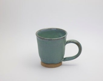 Tall Tea cup in Aqua, 8 oz