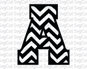 Chevron letters svg, print and cut, chevron alphabet svg, dxf, eps,png, chevron font, letter svg set, chevron cricut, chevron silhouette,