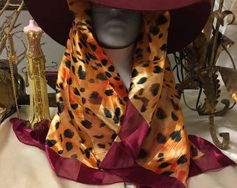 Vintage Burgundy Hat