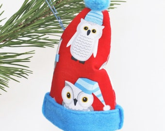 Owl Christmas Ornaments Personalized Owl Ornament Felt Owl Ornament Christmas Owl Christmas Decoration Baby Owl Ornament Best Newborn Gifts