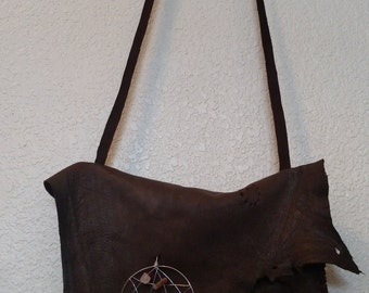 Deer hide shoulder bag