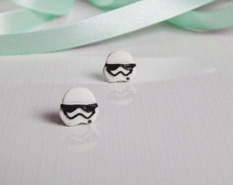 Fimo Stormtrooper earrings Star Wars