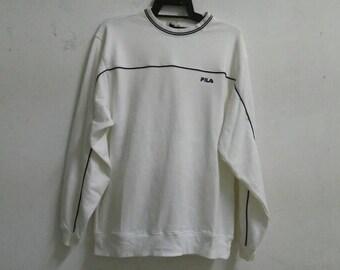 Vintage Fila sweatshirt jumper crewneck small logo large size XL