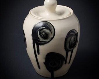 Black Roses Jar