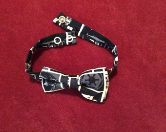 """Star Wars Toddler Bow Tie - 3"""" bow with snap closure on band, baby bow tie, ring bearer bow tie, baby yoda bowtie, baby star wars bowtie"""
