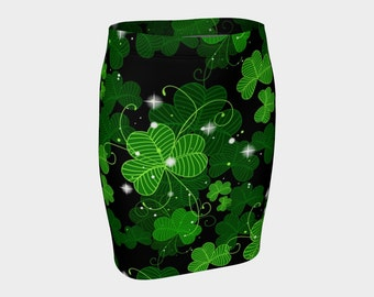 St. Patrick's day skirt, 4 leaf clover skirt, lucky skirt, leprechaun, green skirt, Irish skirt