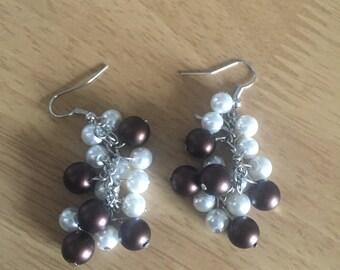 Cluster bead earrings