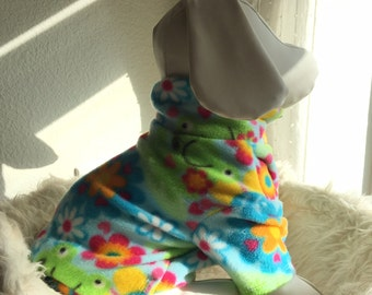 Pet Fleece Shirt -Fun and Froggy