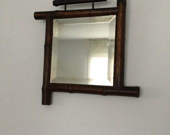 Square bamboo mirror