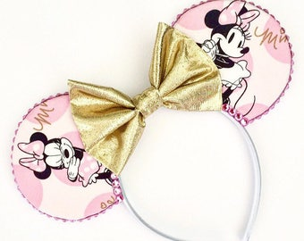 The Sassy Mouse (Pink) - Handmade Disney Minnie Mouse Inspired Mouse Ears Headband