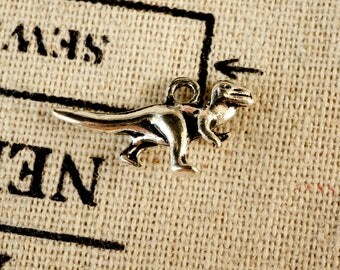 Dinosaur silver 15 charms vintage style jewellery supplies C286