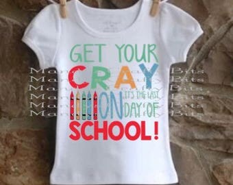 SVG and DXF Get your Cray on its the last day of school
