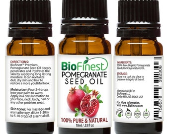 BioFinest Pomegranate Seed Organic Oil - 100% Pure Cold-Pressed - Premium Quality