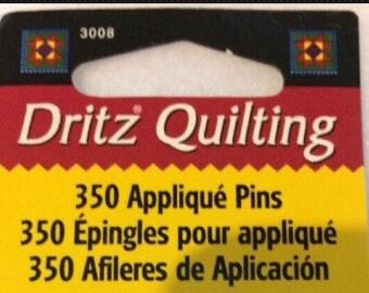 Pins -New 1 Box 350 Dritz Applique Pins No. 12
