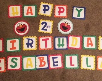 Sesame Street happy birthday banner