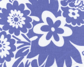 blue and white twill print