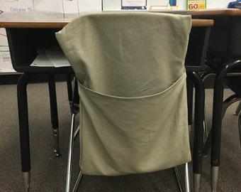 "Set of 4, 15"" Wide Durable Elementary Classroom Chair Pockets Teacher Organization"