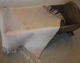 Vintage Pink Baby Blanket