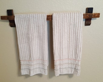 Wine Barrel Stave Towel Rack Towel Holder Towel Bar Bathroom