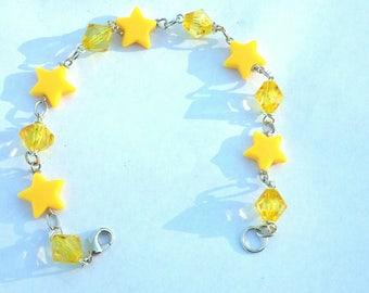 Star Beaded Chain Bracelet