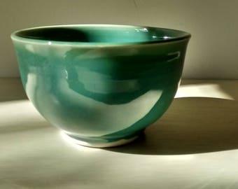 Small Pottery Bowl, Small Ceramic Bowl, Porcelain Bowl, Blue pottery bowl, Handmade Pottery Bowl