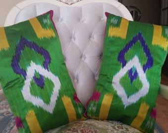 TURKISH IKAT CUSHIONS..........genuine village made pair