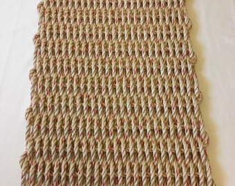 Large Hand Woven Natural Door Mat  20 x 36