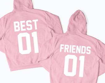 Best Friends Matching Hoodies Matching Couple Shirts Matching Hoodies, Besties Gift, BFF, Best Friends Forever, Gift for Her, Girls Gifts