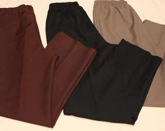 3 - Donnkenny ~ Dress Pants ~ Gentle Stretch Elastic Waistband  ~ Made in USA ~ Vintage 1980's