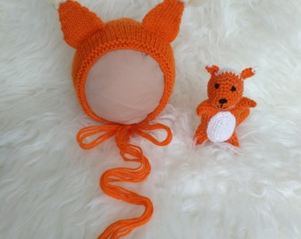 Set Squirrel hat and toy