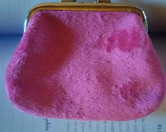small wallet in pink Velvet