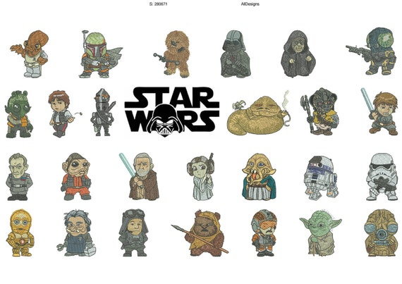 Easytees 50 Off Mini Star Wars Embroidery Designs In The Hoop