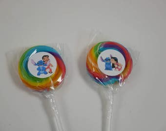 Rainbow Swirl Lollipops with Sticker, Lollipops with Stickers, Swirl Lollipops, sweet lollipops, candy stickers