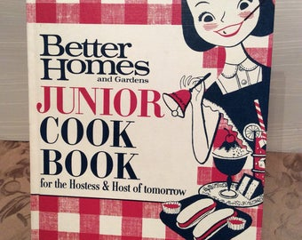 Better Homes and Gardens Junior Cookbook ~ c1963 Meridth Corp. ~ Vintage Cookbook