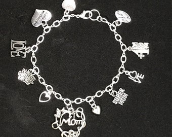 Mothers Day Gift - Gift Mom - Gifts for Mom - Mum Gift - Mum Bracelet - Mom Gift Mom - Mother Charm Bracelet - Mummy Bracelet - Mother