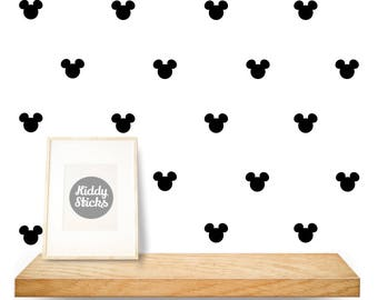 Mickey Mouse Shaped Confetti Wall Stickers / Decals - 2 Sizes  Available - FREE UK POSTAGE