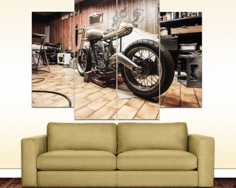 Motorcycle canvas picture
