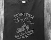 Bonneville Salt Flats Motorcycle Racing T Shirt Motorbike Triumph Norton BSA Harley Davidson